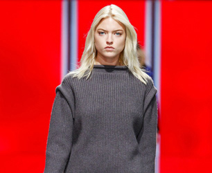 model on Christopher Kane AW13 catwalk