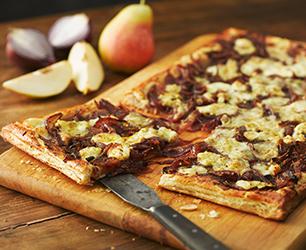 Gorgonzola, Red Onion, & Cumin Tartlet