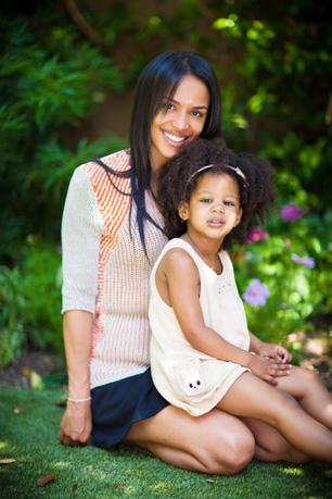 Nadeje Gallas with Daughter