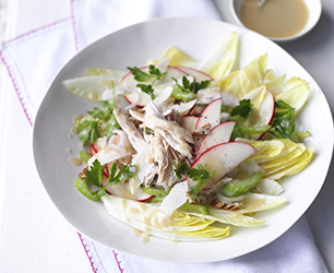 Pink Lady Apple, Chicory and Pecan Salad