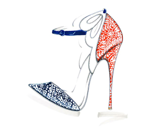 Sophia Webster for J Crew shoe illustration