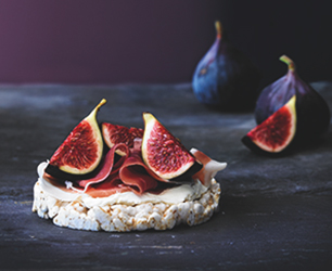 Cream Cheese, Parma Ham & Figs on Rice Cakes
