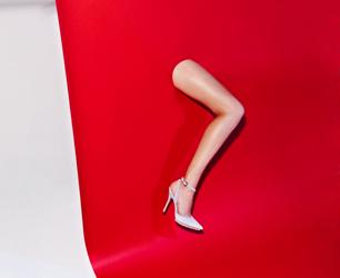 model's leg for PREEN X ALDO RISE AW13