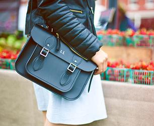 Cambridge Satchel Company leather jacket and satchel