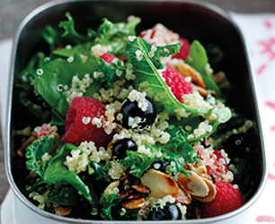 Kale, quinoa and berry salad