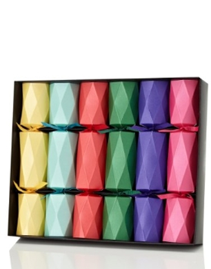 Sculpted Multicoloured Mini Christmas Crackers
