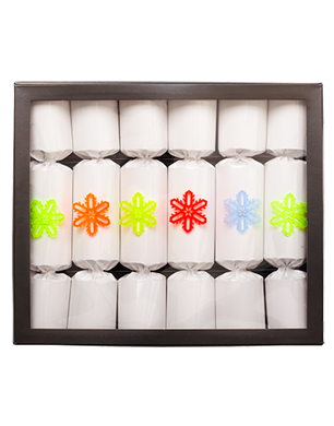 White Gloss Christmas Crackers