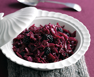 Braised Red Cabbage with Blackberries Feat
