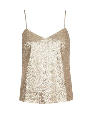 Gold Sequin Camisole Vest