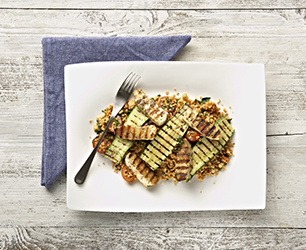 Grilled Halloumi Salad with Cous Cous