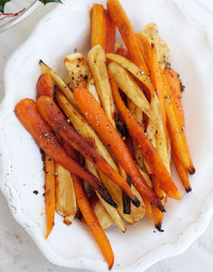 Honey Glazed Roast Carrots and Parsnips