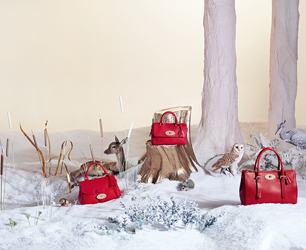 Mulberry Christmas woodland scene