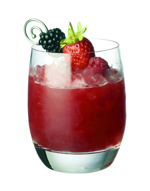 Berry Smash Mocktail