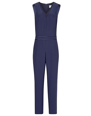 Reiss Roana Satin Trim Jumpsuit