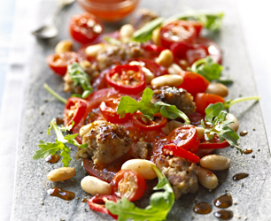 Pizza Express Spicy Italian Sausage and Bean Salad