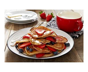 Strawberry Breakfast Pancakes