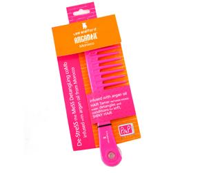 pink hair brush
