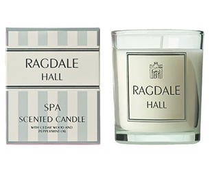 Spa scented candle by Ragdale Hall