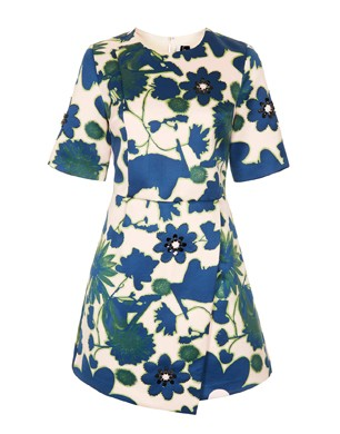 X-Ray Flower Embellished Shift Dress