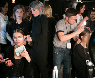 skyn ICELAND - models backstage at Charlotte Ronson