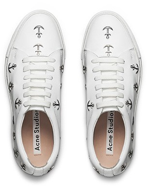Acne Ariana Stud White Trainers