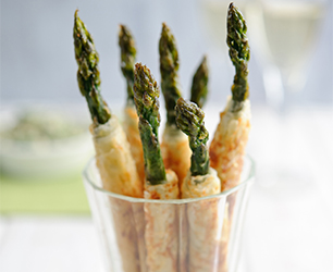 Filo Pastry Wrapped Asparagus