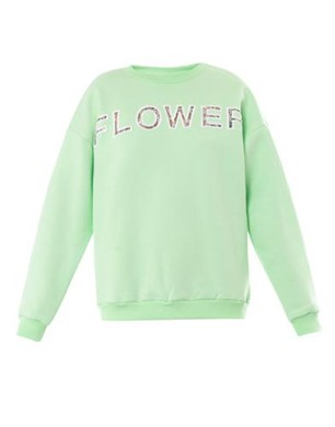 Christopher Kane Flower Lace-Insert Sweatshirt