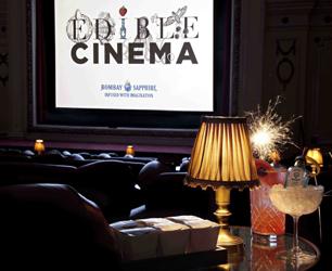Edible Cinema and Bombay Sapphire logo