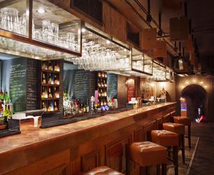 bar interior at Seven Dials