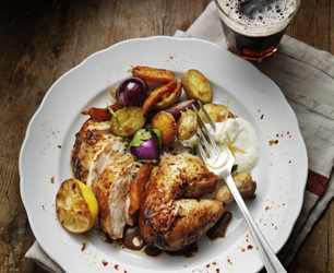 Roasted Chicken with Lemon Zest