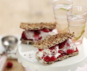 Ryvita Raspberry Ripple Ice Cream Sandwich
