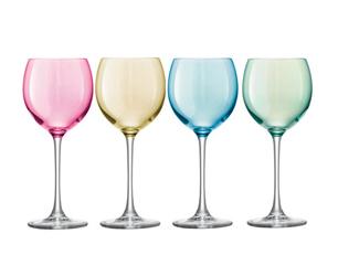 coloured wine glasses