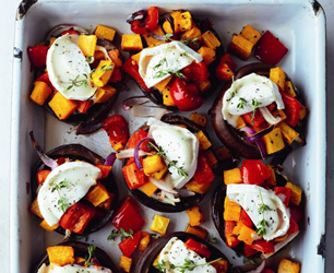 Goat's Cheese and Roasted Vegetables Mega-Mushrooms