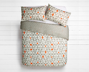Geometric duvet cover