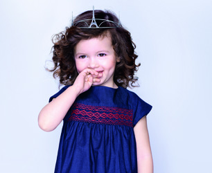 Layette Girl Blue Dress