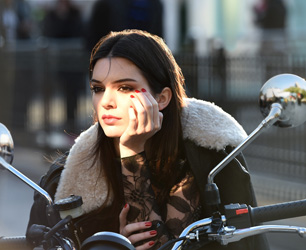 Behind the scenes on an Estée Lauder ad shoot with Kendall Jenner. Photo courtesy of Estée Lauder