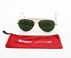BOAST and RED'S AVIATOR SUNGLASSES