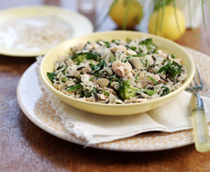 Salmon & broccoli pilaf