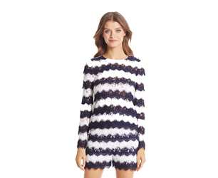 Darielle Striped Lace Top copy