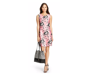 DVF Sofia Silk Wool Shift Dress copy
