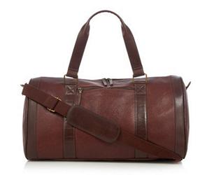 RJR.John Rocha Designer brown pebbled leather holdall copy