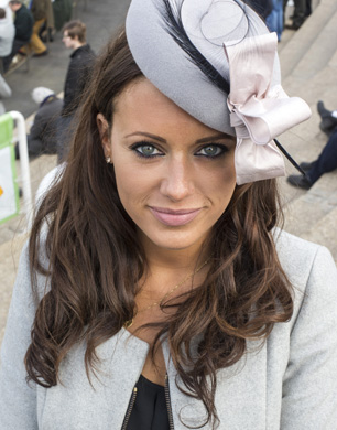 Camilla Henderson daughter of trainer Nicky Henderson enjoying the first day of the Cheltenham racing festival. Pic:Mark Condren 11.3.2014
