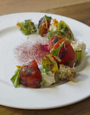 Charred Tomato & Cucumber Salad