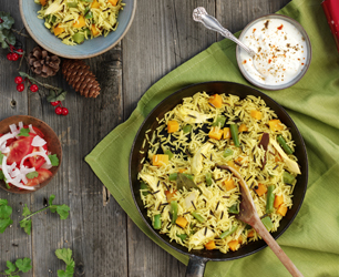 Tilda Roast Chicken or Turkey and Vegetable Pulao Christmas