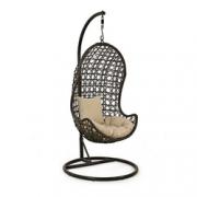 Feat-Debenhams Dark brown rattan-effect 'LA' garden hanging chair copy