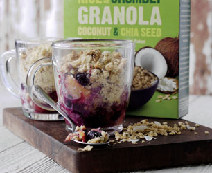 Feat-NATURE'S PATH_STEVE LEE_NICE & CRUMBLY COCONUT CHIA_MUG CRUMBLE_WITH PACK_LOWER RES