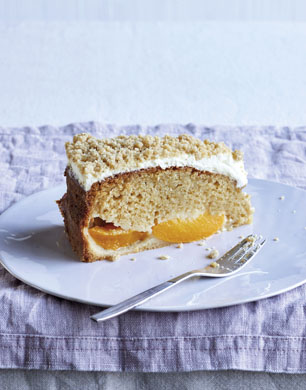 Peach And Creme Fraiche Crumble Cake